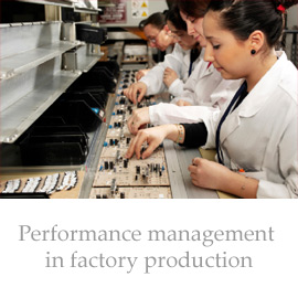 Performance management in factory production