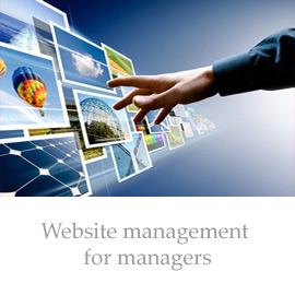 Managing web site for managers